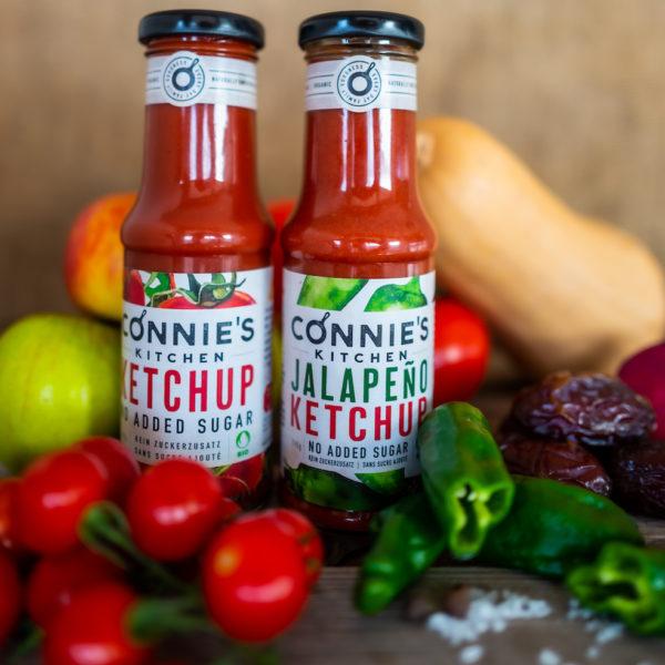 Swiss Organic Jalapeño Ketchup duo