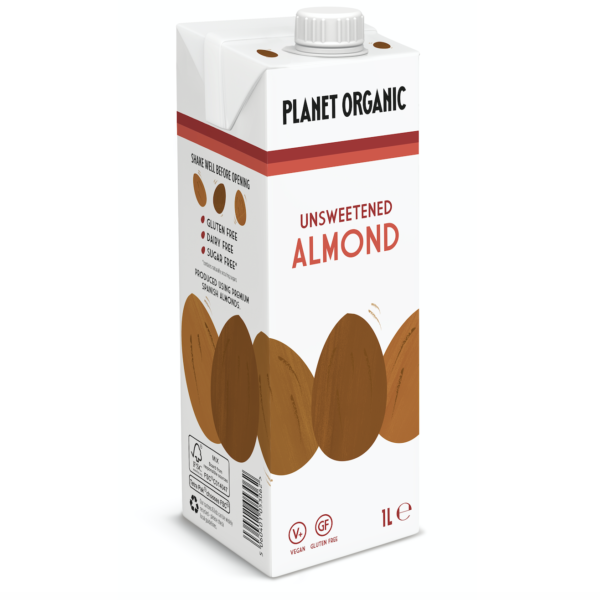 Organic Almond Milk drink unsweetened planet organic switzerland