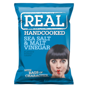 REAL - SEA SALT & MALT VINEGAR POTATO CHIPS