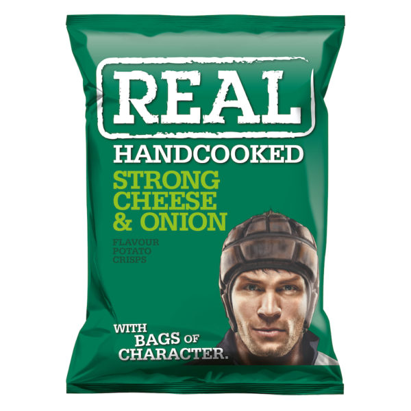 REAL - STRONG CHEESE & ONION POTATO CHIPS