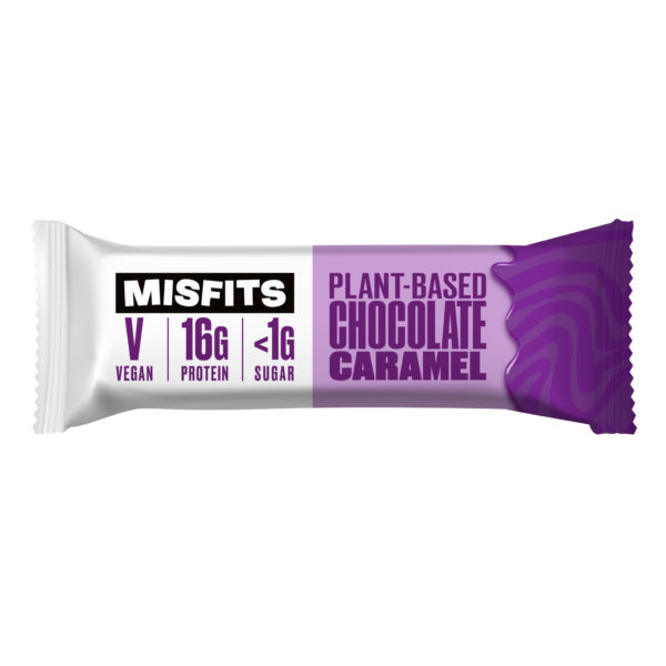 Misfits - Plant-based Protein Bar - Chocolate Caramel 45G