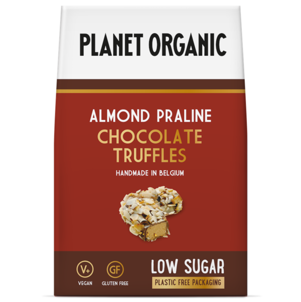 Planet Organic - Almond Praline Chocolate Truffles - 80g