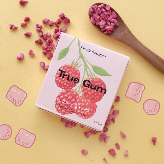 Raspberry sustainable gum