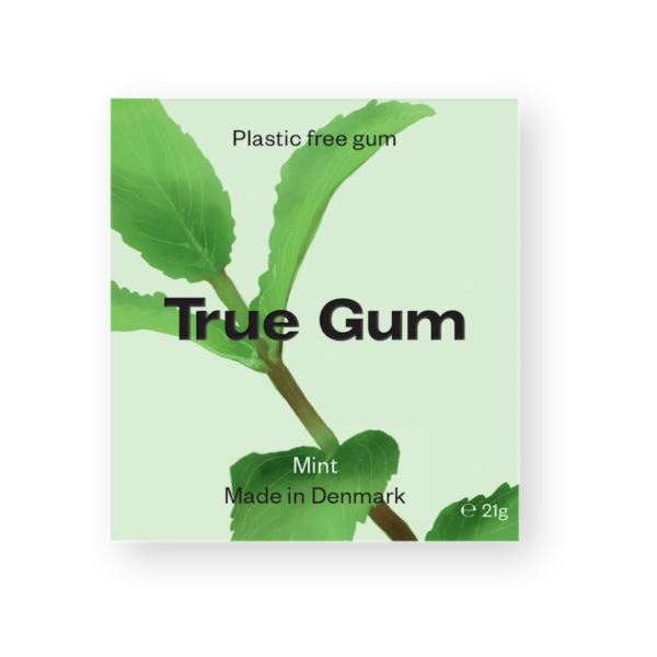 plastic free gum mint