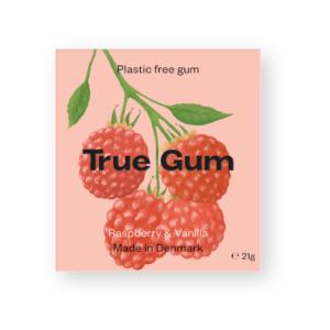 plastic free gum raspberry