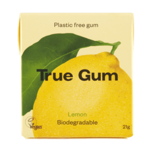 true gum plastic free chewing gum lemon